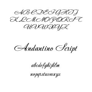 Andantino Script Font